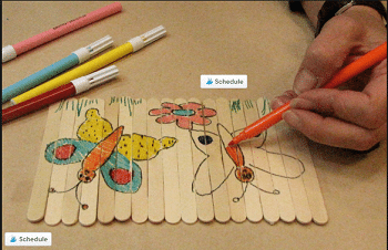 יצירה לילדים ממקלות ארטיק