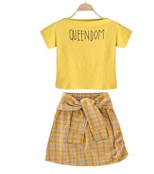 סט חולצה וחצאית לילדות ונערות באלי אקספרס