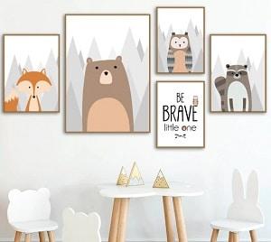 תמונות לחדר ילדים איורי חיות