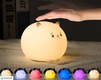 מנורה מחליפה צבעים לחדר ילדים