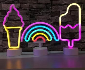 מנורת לד צבעונית לחדר ילדים