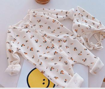 אוברול כותנה עם רקמה לתינוקות