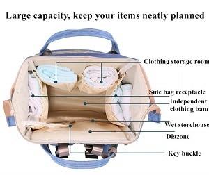 אחסון פנימי בתיק עגלה