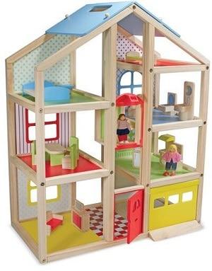 בית בובות מעץ טבעי