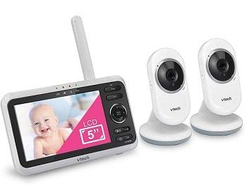 מוניטור לתינוק עם 2 מצלמות לשני חדרים במקביל