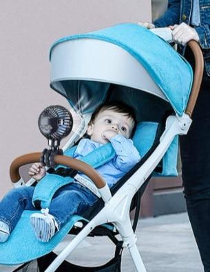 מיני מאוורר נטען לעגלת תינוק