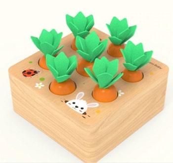 צעצועי התפתחות מעץ לגיל שנתיים