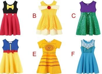 שמלות תחפושות דיסני