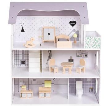 בית בובות מעץ מתנה לגיל 4