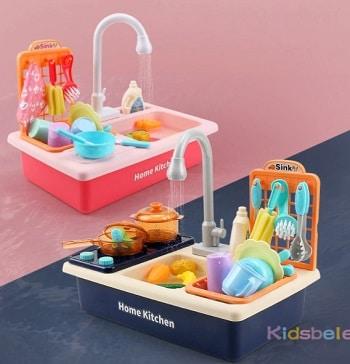 משחק כיור עם ברז שטיפת כלים מפלסטיק