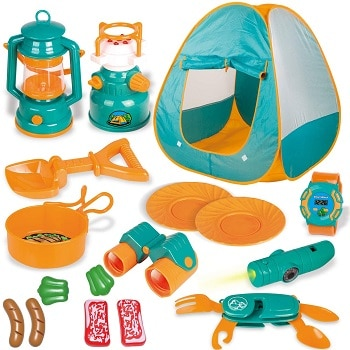 משחק אוהל ואביזרי קמפינג לילדים
