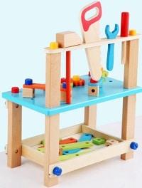 שולחן נגרות עם כלי עבודה לילדים