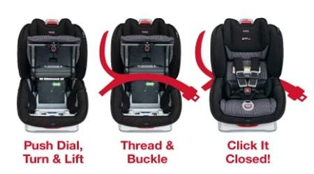 התקנה מושב בטיחות לרכב