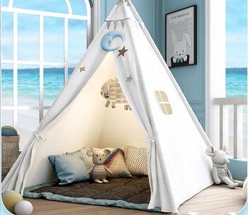 אוהל טיפי לבן לחדר ילדים