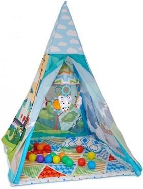 אוהל פעילות עם כדורים